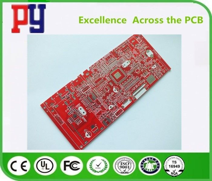 Red Solder Mask FR4 PCB Board 1.6mm Thickness 1oz Double Side With Immersion Tin
